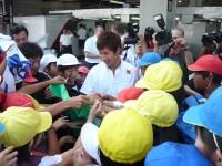 小林可夢偉選手と握手!