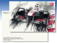 『Sauber オフィシャル可夢偉イラストポストカード』