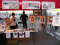 垂井氏墨のF1アートブースも大人気!