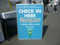 foursquareチェックインイベント